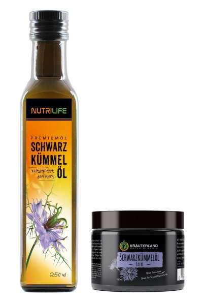 Schwarzkümmelöl gefiltert 250ml + Salbe 110ml