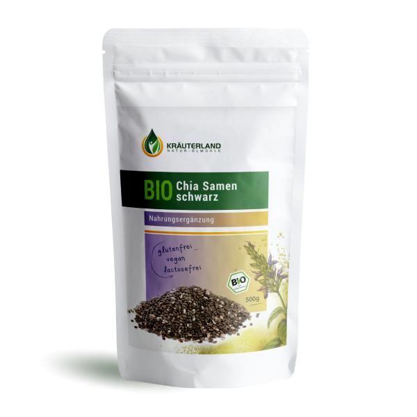 Bio Chia Samen schwarz 500g