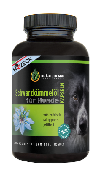 Schwarzkümmelöl Kapseln für Hunde 300 Stück