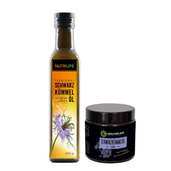 Schwarzkümmelöl gefiltert 250ml + Salbe110ml