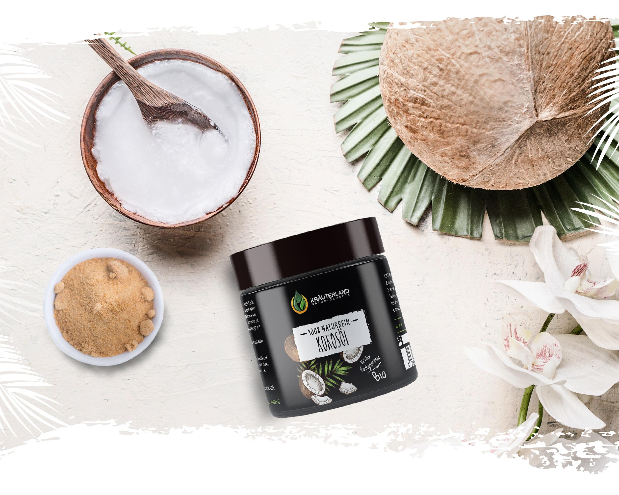 Pflegendes Hautpeeling mit Kokosöl und Kokosblütenzucker ‒ Ganz einfach selber machen