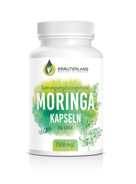 Moringa Kapseln, vegan 150 Stück