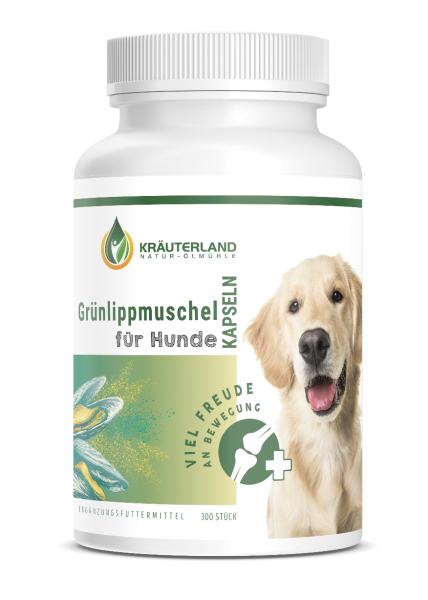 Grünlippmuschel Kapseln für Hunde 300 Stück