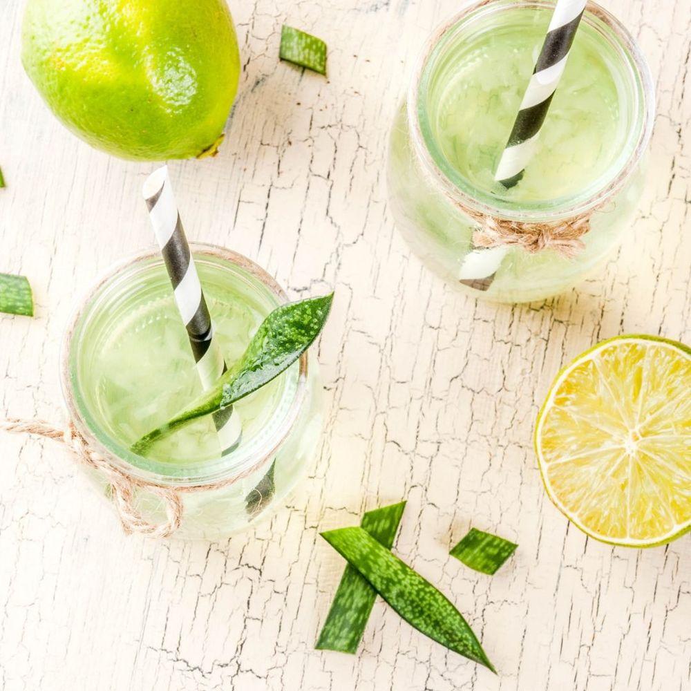 Erfrischender Aloe Vera-Zitronen-Detox Saft