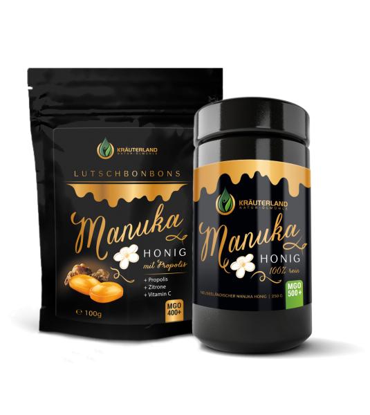 Set Manuka Honig MGO 500+ 250g & Bonbons 100g